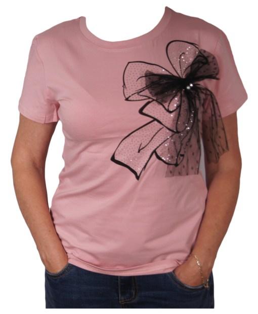 Дамска блуза 01-208-3 цвят розов