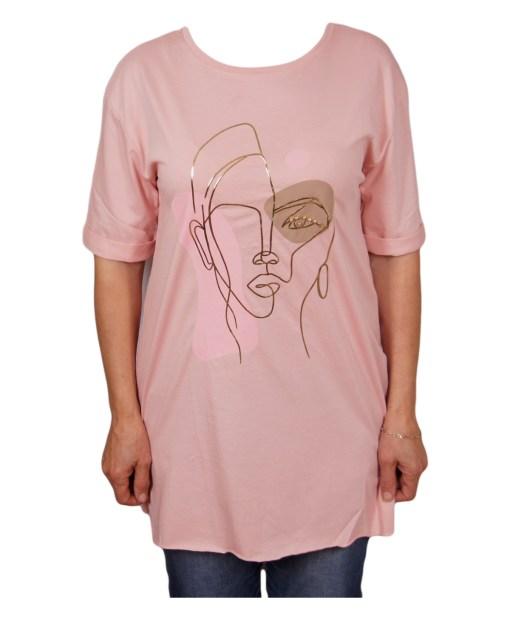 Дамска блуза 0019-559-82 цвят розов