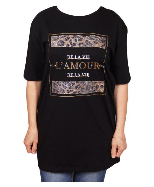 Дамска блуза 0019-559-85 цвят черен