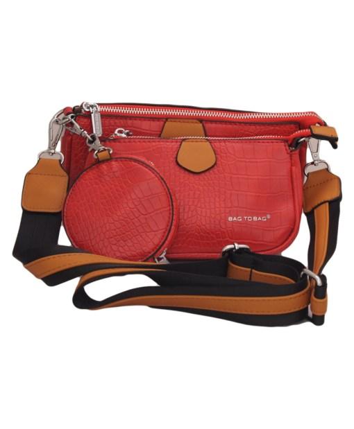 Дамска чанта 002-691-80 цвят червен