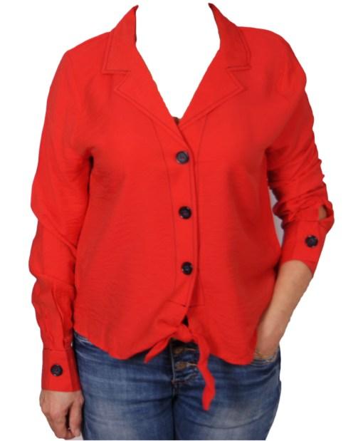 Дамска блуза 00-572-1 цвят червен