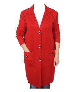 Дамска жилетка 20-099-2 цвят червен