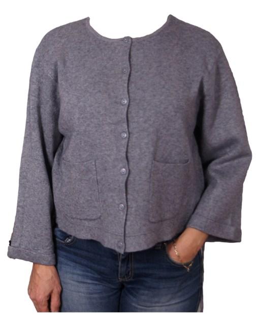 Дамска жилетка 20-098-43 цвят сив