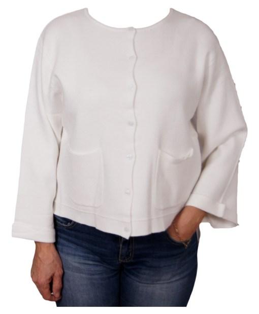 Дамска жилетка 20-098-44цвят бял