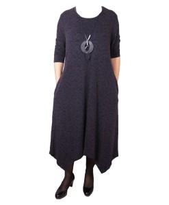 Дамска рокля XL 18-189-5 цвят черен
