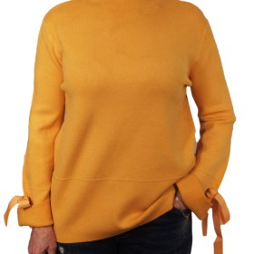 Дамски пуловер 2-386-44 цвят горчица