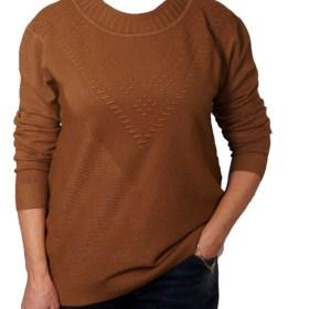 Дамска блуза XL 01-097-76 цвят кафяв