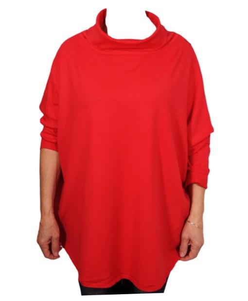 Дамска блуза XL 01-093 цвят червен