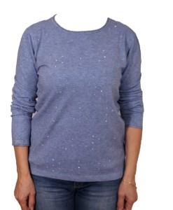 Дамски пуловер 2-386-15 цвят син