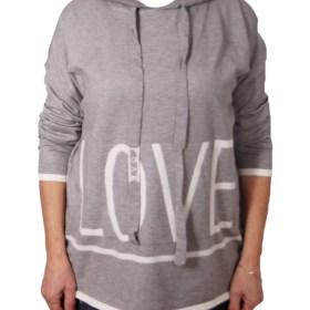 Дамски пуловер 2-386-33 цвят сив
