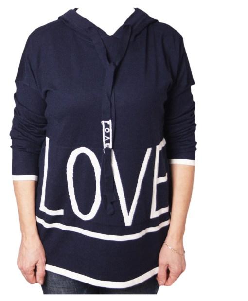 Дамски пуловер 2-386-30 цвят син