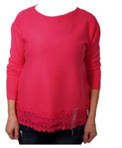 Дамски пуловер 2-386-20 цвят циклама