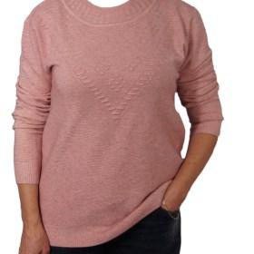 Дамска блуза XL 01-097-72 цвят розов