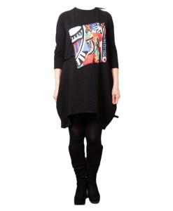 Дамска рокля 017-190-2 цвят черен