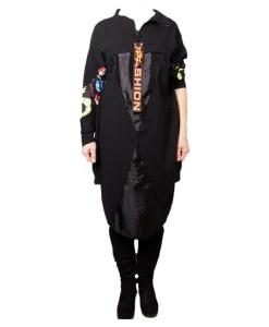 Дамска рокля 017-190-3 цвят черен