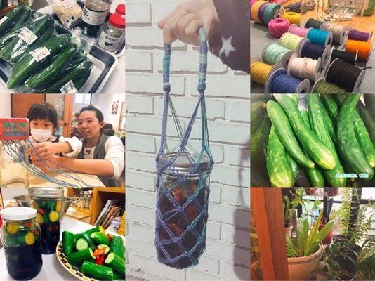梅森。日常 減塑生活║主婦聯盟共做有機醬瓜+一個蛋餅手工雜貨彩色窗花環保提袋diy