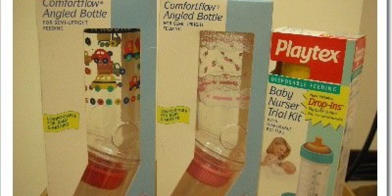女孩專屬。Playtex奶瓶