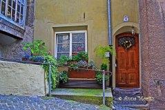 Entrance door at Kurzer Graben, Hall in Tirol