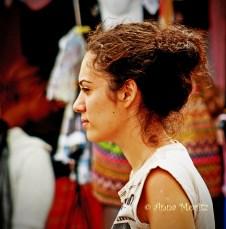 Girl at the market in Pisa
