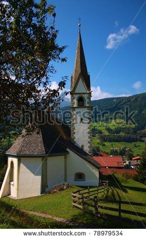 Church in Pfons , Wipptal, Tirol, Austria , once
