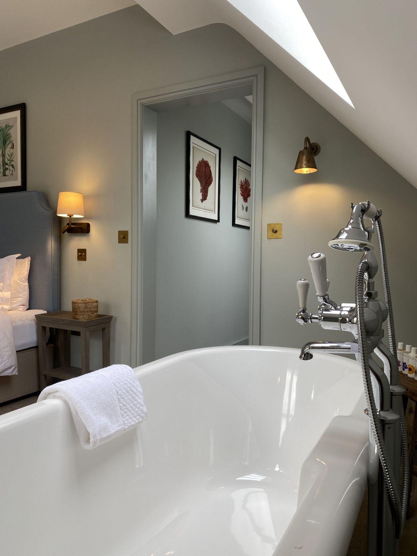 The Bottle & Glass Inn Guest Room Sumptuous Bath