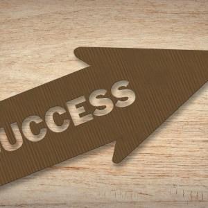 """Pfeil, auf dem """"Success"""" steht"""