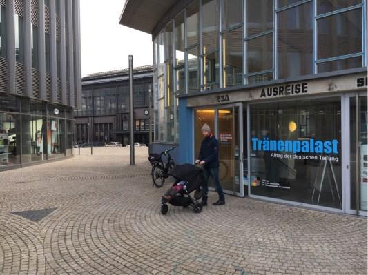 Tranenpalast and Friedrichstrasse Station behind