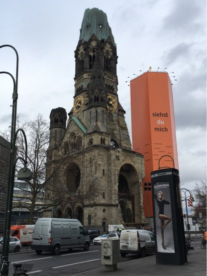 Kaiser Wilhelm Memorial Church today with Easter wrap of the Bell Tower
