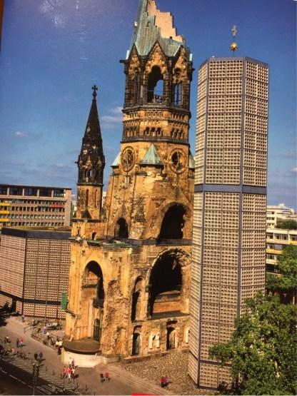 Kaiser Wilhelm Memorial Church before the clocks were refurbished.