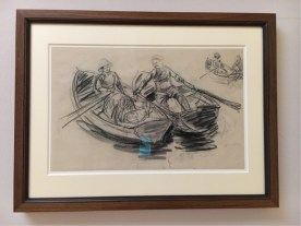 Max Liebermann, Two Rowing Boats knocking against each other, 1909