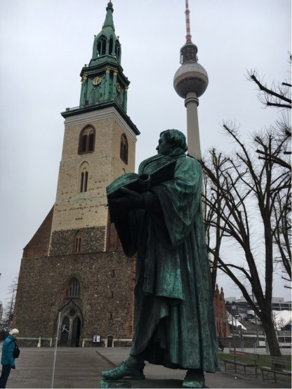 Martin Luther in front of Marienkirche