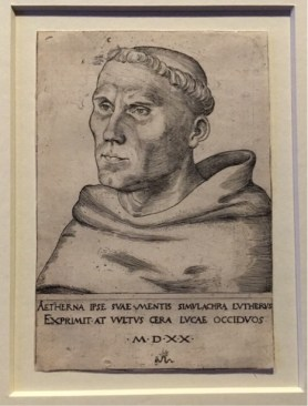 Lucas Cranach the Elder engraves the first Martin Luther portrait on behalf of the Elector.