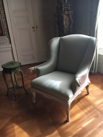Old Fritz'favourite chair - in which he died.