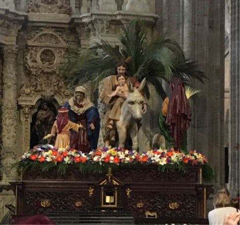 New Cathedral - Palm Sunday procession scene