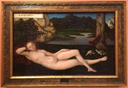 Lucas Cranach (The Elder), Reclining Nymph, ca 1530-34