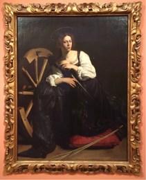Caravaggio (Michelangelo Merisi), Saint Catherine of Alexandria, 1597