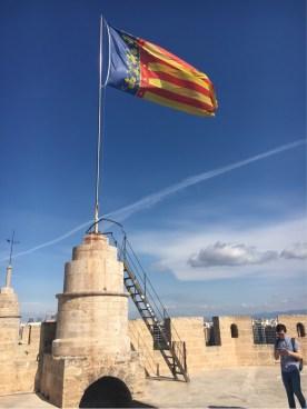 Torres de Serranos - at the top.