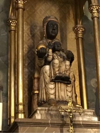A Black Madonna - seen often in Barcelona Churches