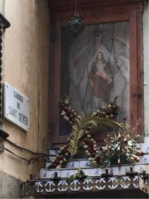 Shrine to Santa Eulalia, 13yo 4th-Century Martyr and joint Patron Saint of Barcelona