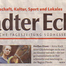 Zeitungsartikel zur Firmengründung 2002