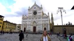 Molly in front of Santa Croce