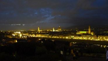 Piazzale Michelangelo at night