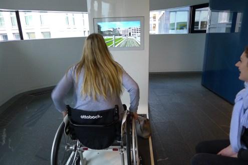 Wheelchair through Berlin simulation