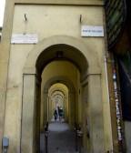 Vasari corridor connecting Signoria, Uffizi, and Pitti
