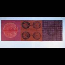 """Oh, Two"" by Jill Ault Shibori Silk Organza 12.5"" x 37.5"" www.jillault.com"