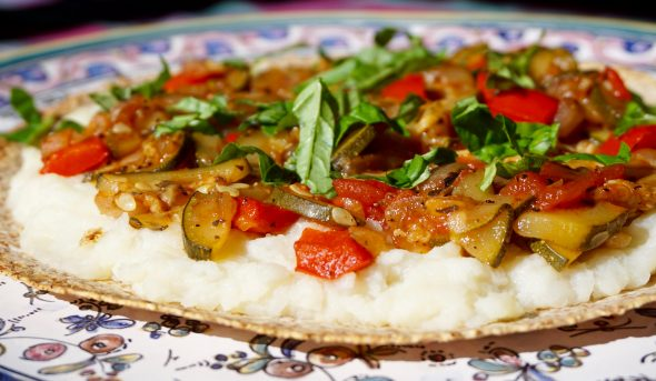 Ratatouille Flatbread Pizza