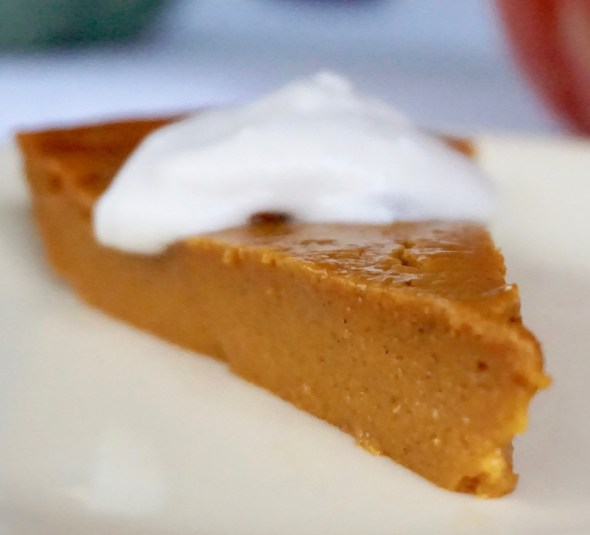 Baked Pumpkin Pudding Pie