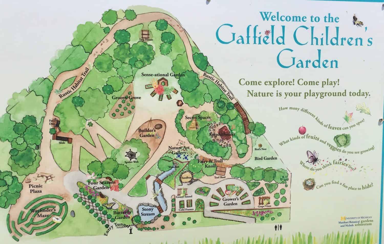 Matthaei Botanical Garden   Childrenu0027s Garden   Map