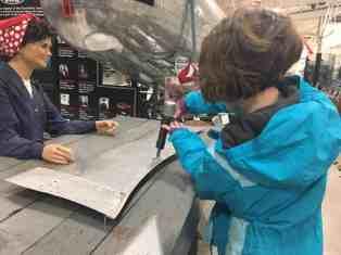 Yankee Air Museum - Riveting