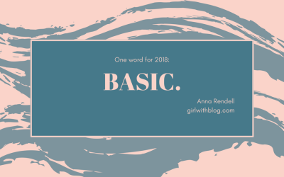My One Word for 2018